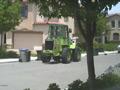 木の枝、草回収車